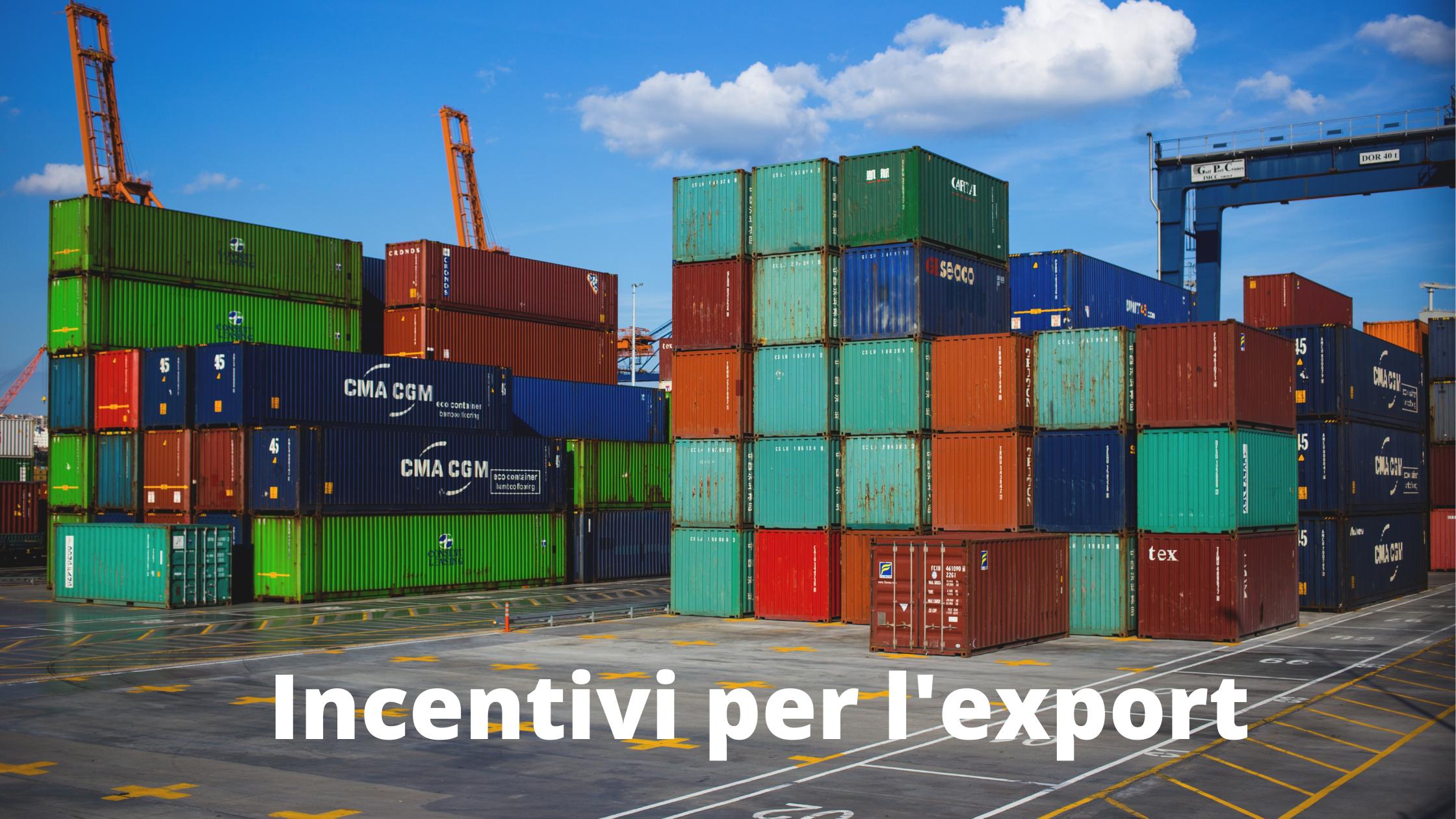 Incentivi per l'export